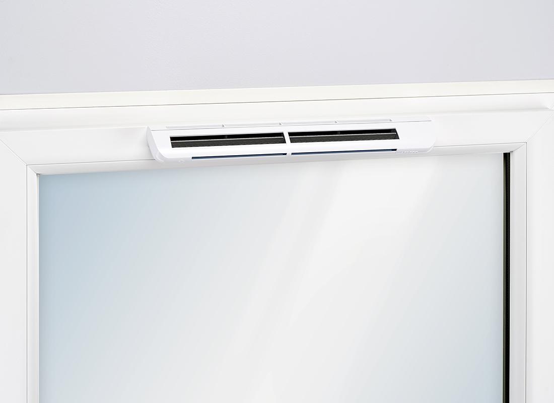 Aereco feuchtegeführter Außenluftdurchlass (ALD) ZUFEH am Fensterrahmen